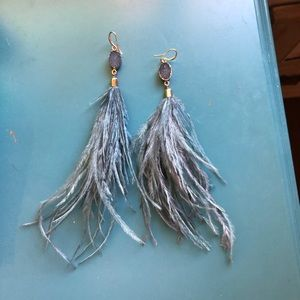 Feather Gem Earrings